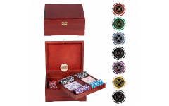 Набор для покера Ultimate VIP на 250 фишек Красное Дерево