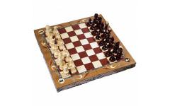 Шахматы резные ручной работы С Гербом большие