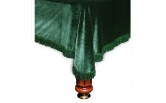 Покрывало Милано 8фт бархат зелёное/зеленая бахрома