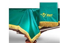 Чехол для б/стола 12-2 (зеленый с желтой бахромой, без логотипа)