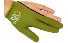 Бильярдная перчатка для кия Renzline Longoni из коллекции «младших» упрощенных моделей, зеленая