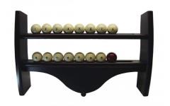 Полка для шаров навесная узкая (махагон, 4 полки, 39,5 х 60 х 10,5 см)