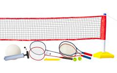 Набор для волейбола, тенниса, бадминтона с регулируемой по высоте сеткой
